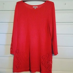 Crocheted top by Roz & Ali